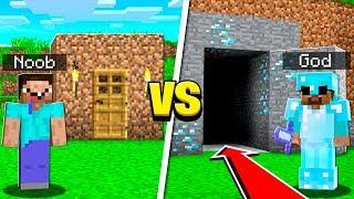 MINECRAFT GOD vs MINECRAFT NOOB BATTLE!