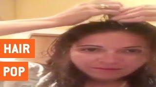Woman Pops Hair To Get Rid of Headaches | Hair Popping