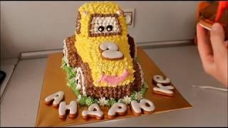 Торт Машинка Трактор Как Собрать И Украсить Торт