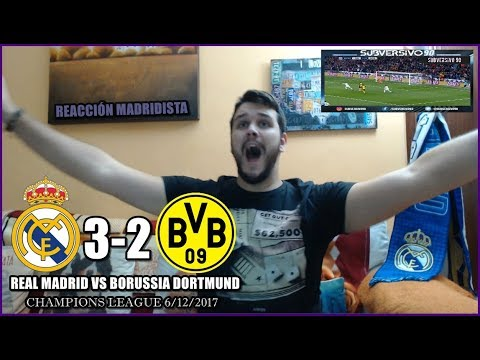 REAL MADRID VS BORUSSIA DORTMUND 3-2 | REACCIONES | CHAMPIONS LEAGUE 6/12/2017 HIGHLIGHTS