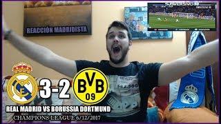 REAL MADRID VS BORUSSIA DORTMUND 3-2 | REACCIONES | CHAMPIONS LEAGUE 6/12/2017 HIGHLIGHTS
