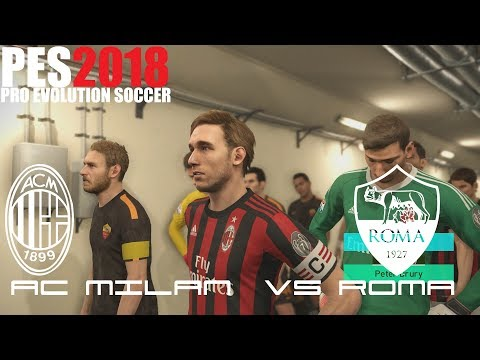 Pes 2018 (ps4 pro) ac milan v roma serie a 1/10/2017 prediction match 1080p 60fps