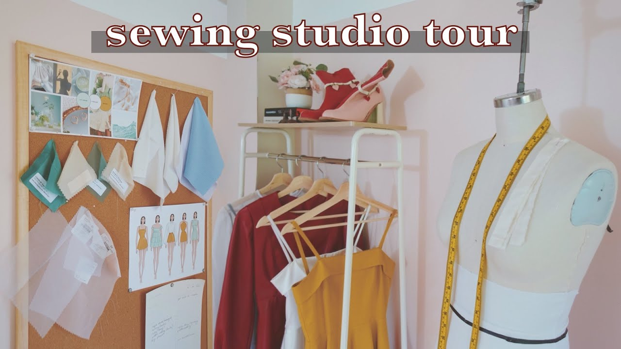 Sewing Studio TOUR // Organization for my Fashion Design & Home Sewing Room