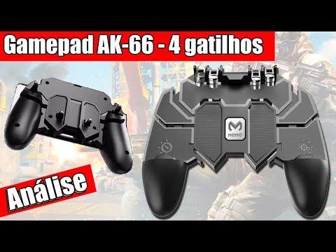 Análise Do Gamepad Ak66 Com 4 Gatilhos No Free Fire E Call Of Duty (COD)