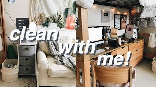 Sunday Clean + Reset Routine | Dorm Room Cleaning