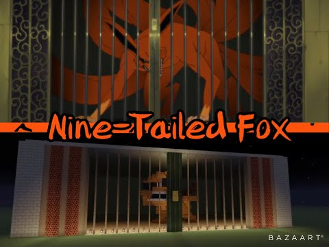 Minecraft: Nine Tailed Fox Cage (Naruto Build Time-Lapse)