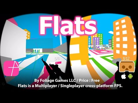 Flats - Best Free Multiplayer / Singleplayer Cross-platform FPS For Google Cardboard (Free)