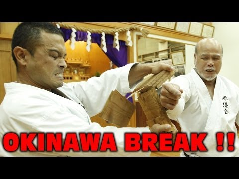 OKINAWA - Shinjo Kiyohide BREAKS WOOD !!