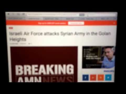 Unconfirmed reports Israel has Bombed Syrian Army