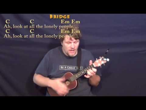 Eleanor Rigby (Beatles) Ukulele Cover Lesson with Chords/Lyrics