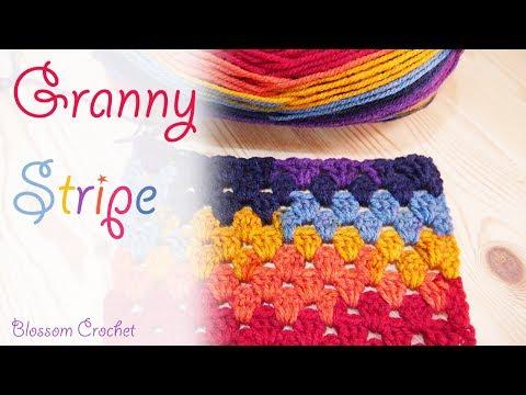 Super Easy Crochet: Granny Stripe Blanket / Scarf