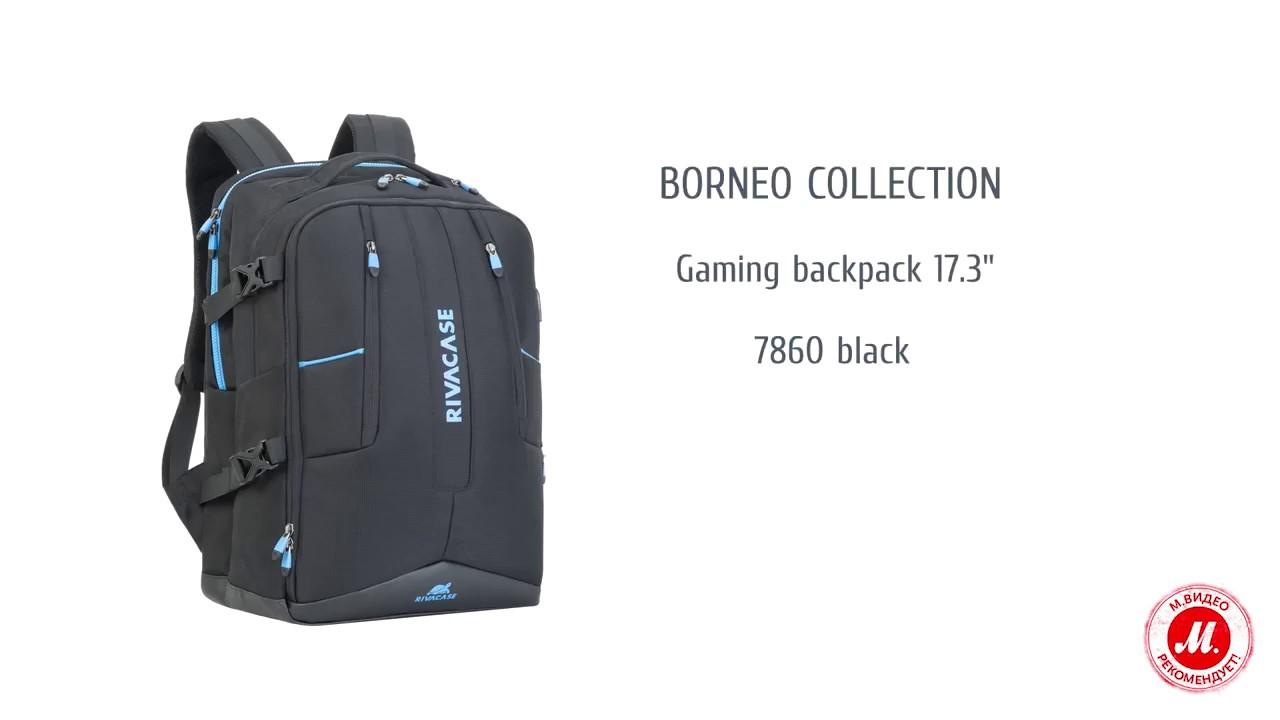 Рюкзак для ноутбука RIVACASE 7860 - YouTube 2761497f37
