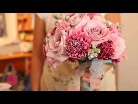 How to Make a Bridal Bouquet and add Glammour to your Couture Wedding Gown