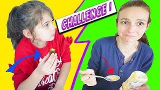 Kutudan ne çıkarsa ye Challenge - Eylül ve Senem Eğlenceli Çocuk - Tontik Tv #tontiktv #eylül