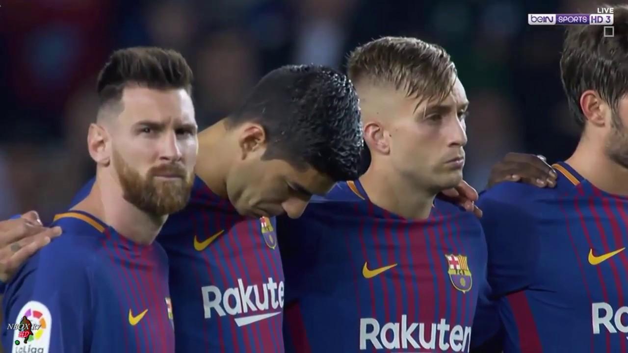 #الجولة_9 مباراة برشلونة vs ملقا الدوري الاسباني تعليق سوار الذهب21-10-2017-HD