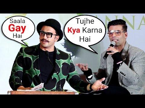 Ranveer Singh INSULTS Karan Johar For Being Gay After Section 377 Verdict