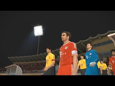 PES 2014 (FC Bayern Munich vs Guangzhou Evergrande Gameplay)