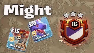 Might 9 Max Dragon 15 Balloon Air Army TH11 3 Star Legend League Attack Strategy Clash Of Clans