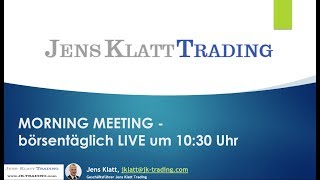 DAX Aktuell und Forex Trading 28.01.2020 (Morning Meeting)