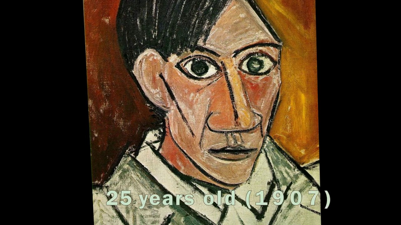 pablo picasso s self portrait evolution from age 15 to age 90 youtube