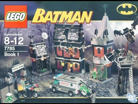 Lego 7785 Batman Arkham Asylum Instruction Manual Book 1 Youtube