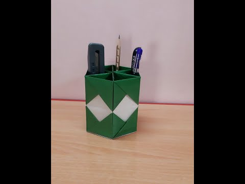 Paper Pen Stand | Pen Holder | Desk Organiser | Table Organiser | Paper Craft | Buddy's Art