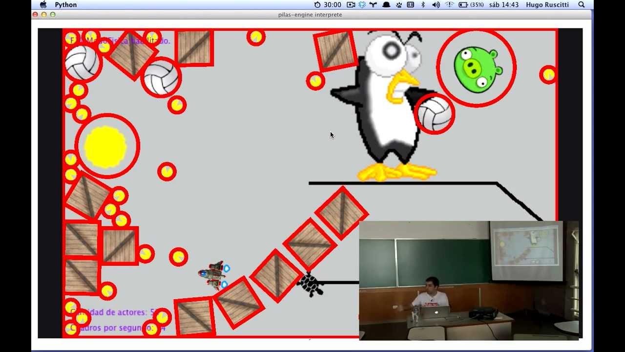 Image from pilas-engine, haciendo juegos en medio de la revolución