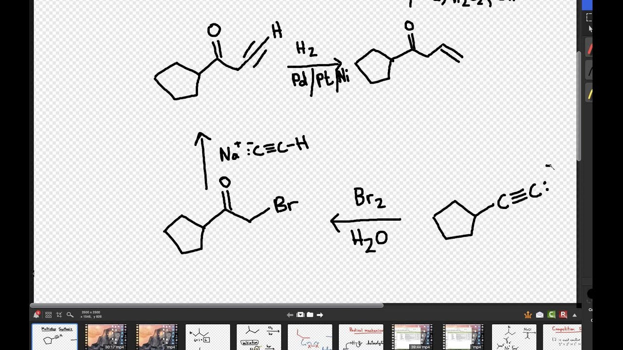 multistep synthesis Video explaining alkynide multistep synthesis for organic chemistry this is one of many videos provided by clutch prep to prepare you to succeed in your.