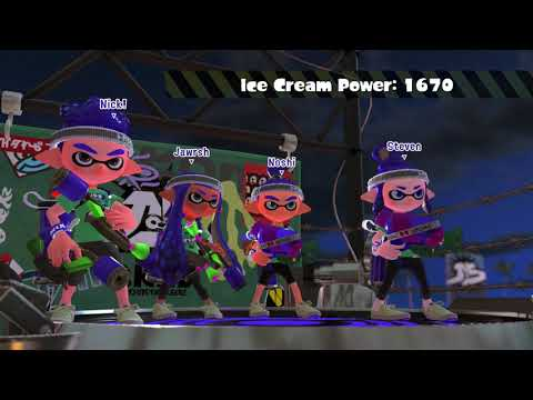 Splatoon 2 Splatfest World Premiere NA Cake vs Ice Cream part 2