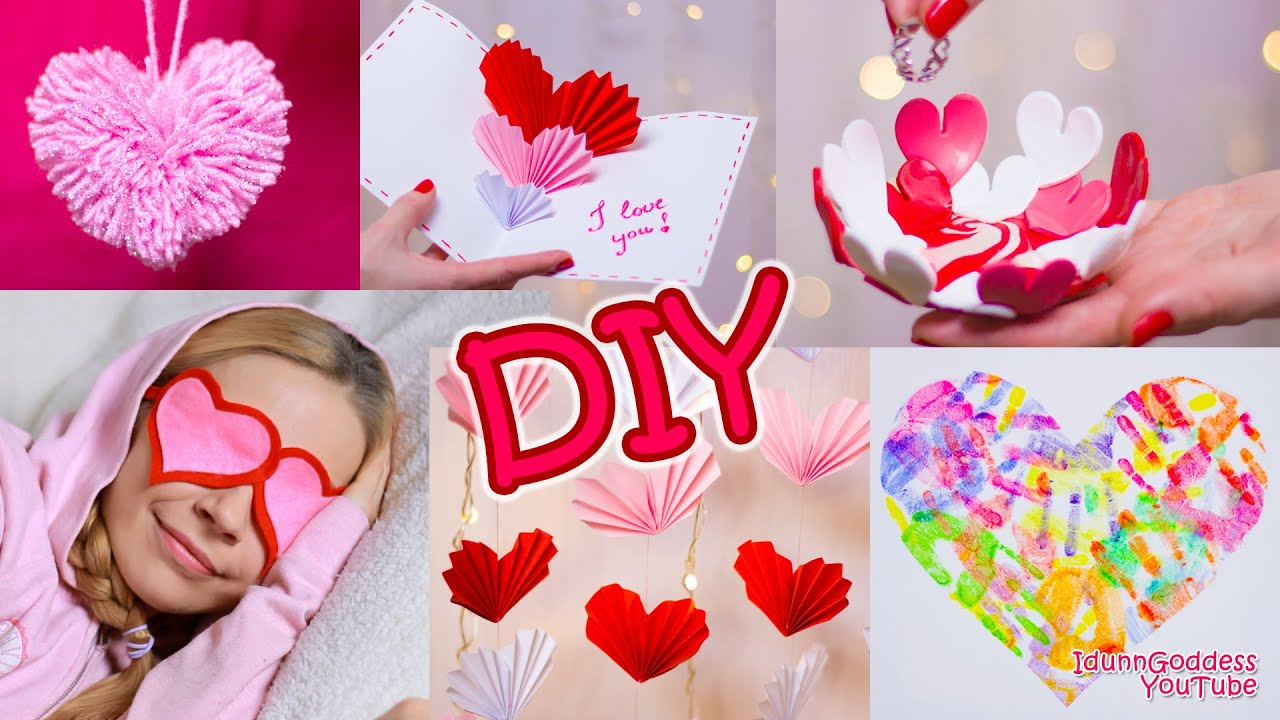 5 DIY Valentines Day Gifts and Room Decor Ideas YouTube – Do It Yourself Valentines Day Cards