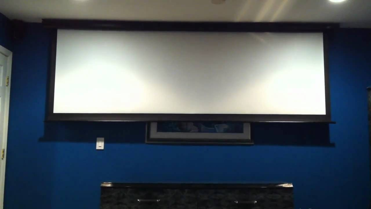 125in Motorized Projection Screen Youtube