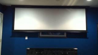 125in motorized projection screen