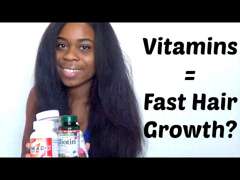 Vitamins For SUPER Fast Hair Growth??? (RESULTS)