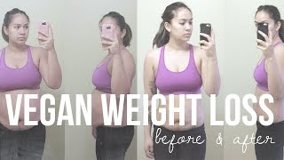 HOW I LOST 38LBS IN 3 MONTHS, BEFORE & AFTER WEIGHT LOSS TRANSFORMATION | seriously rooted vegan