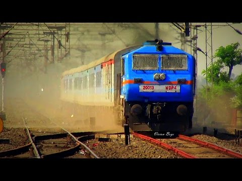 130 KMPH Dust Throw Up - WDP-4 NJP Shatabdi Spears Talit !!!