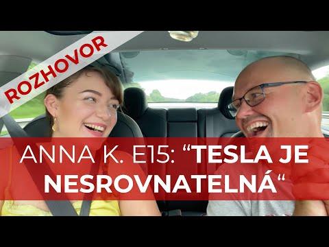 """ANNA KŘÍŽKOVÁ E15: """"TESLA JE NESROVNATELNÁ"""""""