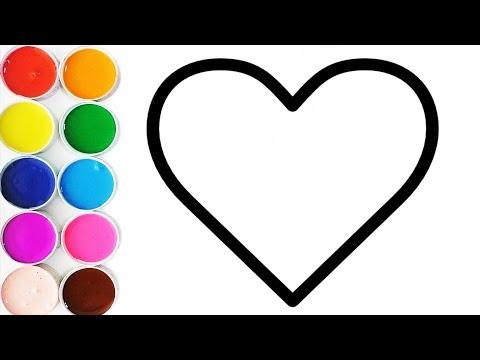 Apremde Los Colores Con Corazones Dibujos Para Niños Learn