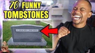 The TOP 70 FUNNIEST Tombstones EVER | Alonzo Lerone