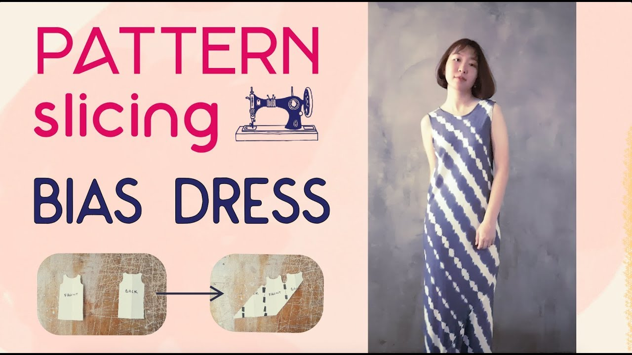484c3040bf3 Sew a Bias Tube Dress from a Tank Top Pattern - YouTube