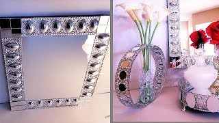 Diy Dollar Tree Home Decor| Textured Wall Mirror| Glam Gifts & Organization Ideas 2019