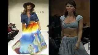 Helena Christensen on the Catwalk