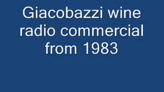 Giacobazzi wine radio commercial from 1983