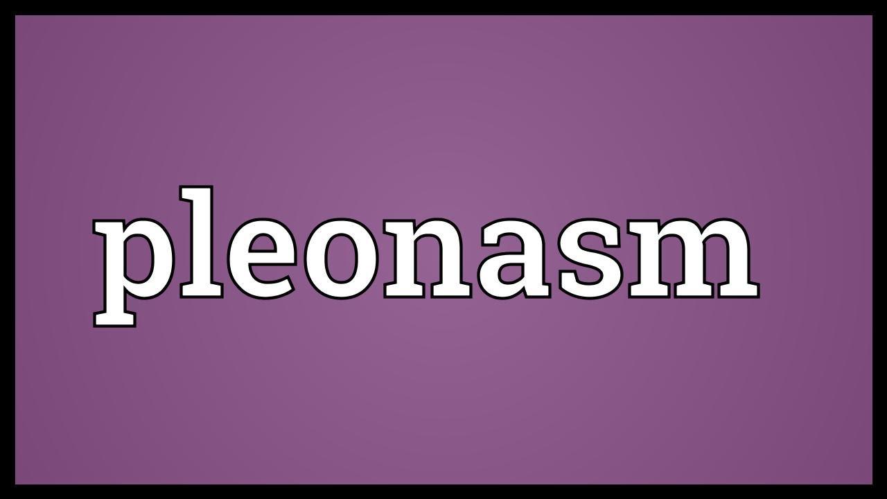 What is pleonasm 65