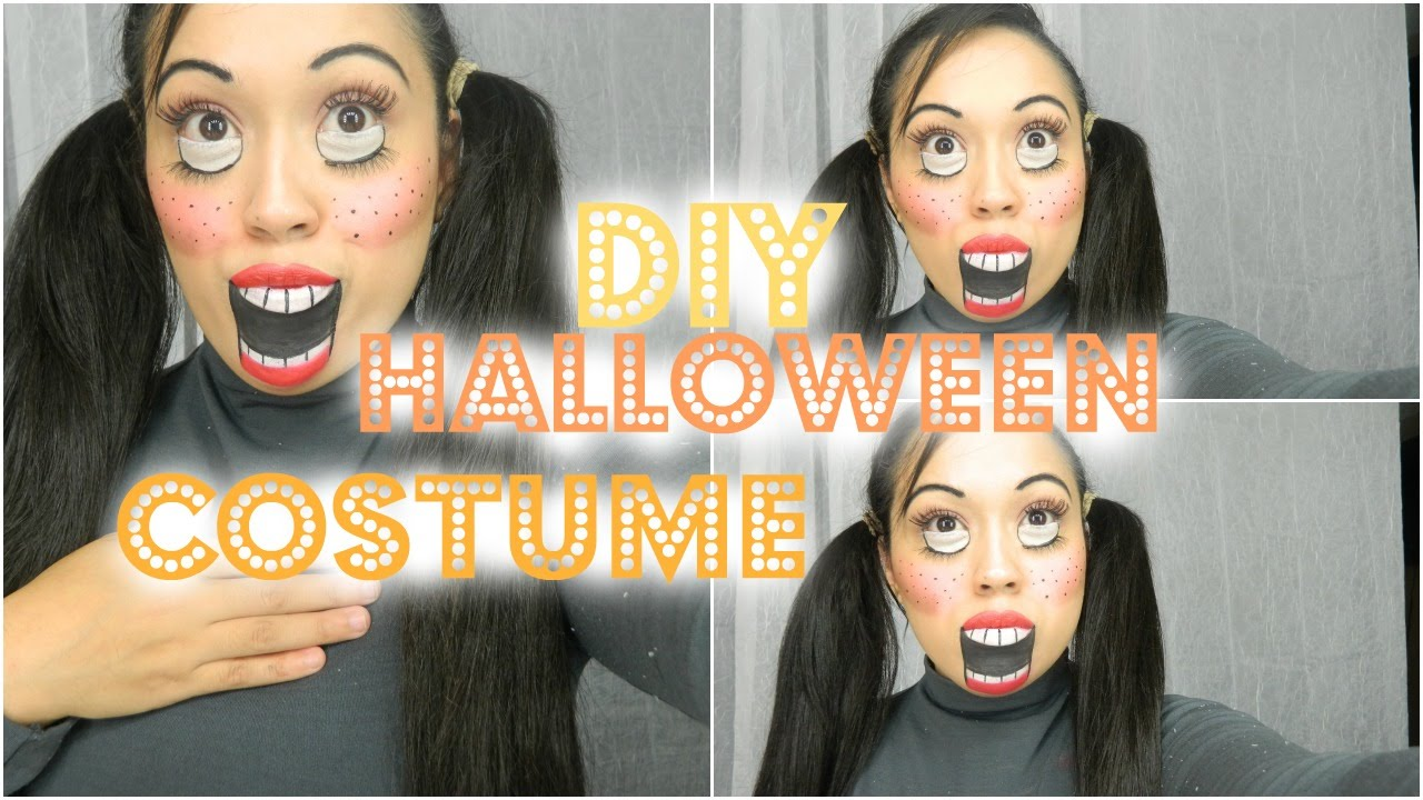 easy diy halloween costumes creepy doll makeup tutorial youtube