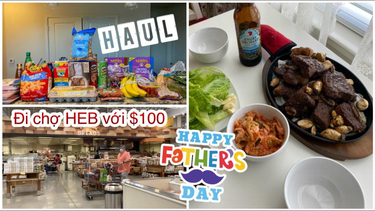 Đi Chợ HEB Với $100 ♥ Làm Cơm Chiên Hải Sản ♥ Father's Day 2020 | mattalehang