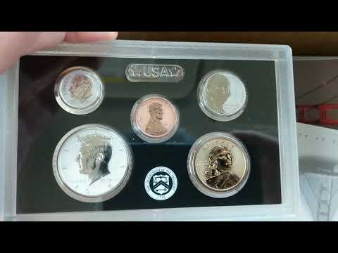 2018 Silver Reverse Proof Set. San Francisco US Mint 50th Anniversary unboxing. US coin collection