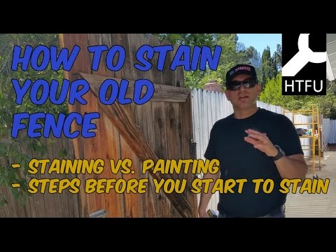 Fix Your Old Wood Fence: How to Stain a Wood Fence, Repair Siding, & How to Paint a Wood Fence Gate