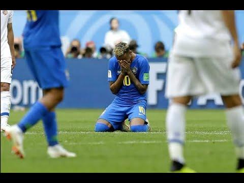 Choro de Neymar após fim do jogo chama a atenção do mundo   SBT Brasil (22/06/18)