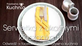 Repeat youtube video Serwetka z ukośnymi kieszonkami | DOROTA.iN