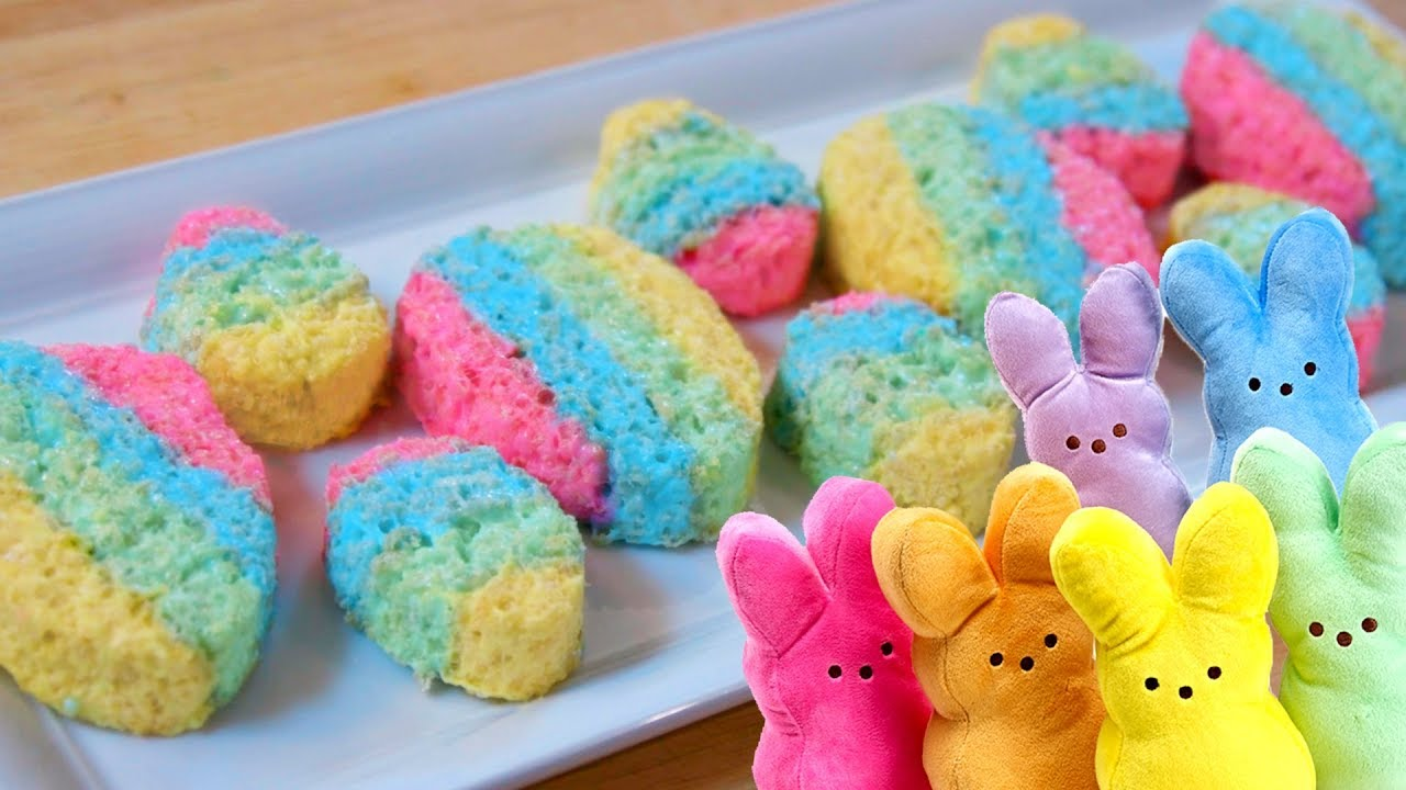 EASTER EGG PEEPS with Rice Krispies! - YouTube